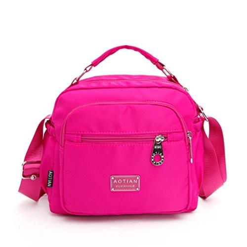 AOTIAN 7153 - Bolso estilo cartera para mujer Morado C-PURPLE small F-LIGHTPINK
