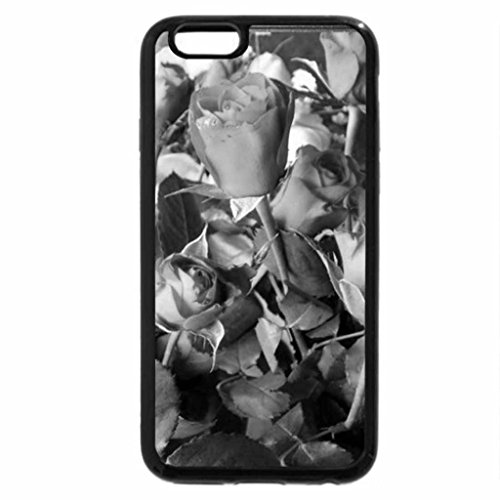 iPhone 6S Plus Case, iPhone 6 Plus Case (Black & White) - Roses and Buds