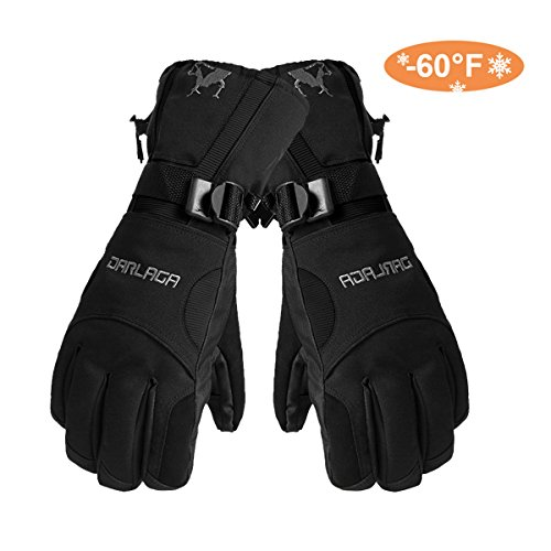 Skiing Gloves - Waterproof Thermal Winter Snowboarding Gloves Cycling Snowmobile Motorcycle Outdoor Sports Adjustable Gloves--Man's (Adjustable Gloves)