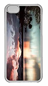 iPhone 5C Case, Personalized Custom Winter Lake for iPhone 5C PC Clear Case