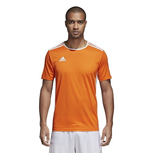 adidas Men's Soccer Entrada 18 Jersey, Orange/White, ()