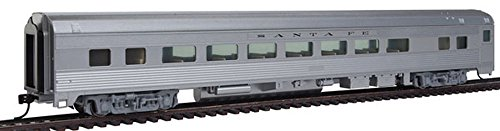 Walthers 85' Budd Large-Window Coach - Ready to Run -- Santa Fe (Silver)