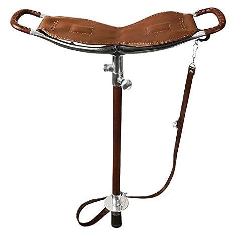 Seeland - sola pierna caza silla 2 funciones - marrón - 55 - 80 cm ...
