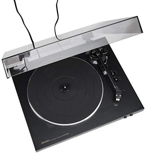 Denon DP-300F Fully Automatic Analog Turntable with Built-in Phono Equalizer | Unique Tonearm Design | Hologram Vibration Analysis | Slim Design (Renewed)