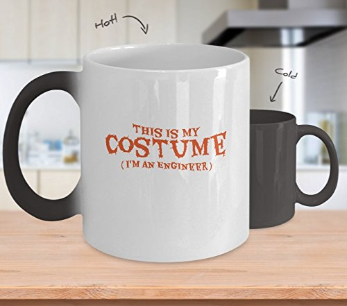 Color Changing Mug Funny Halloween Costume Gif I'm An Engineer Heat Colour Change Mug Gift -