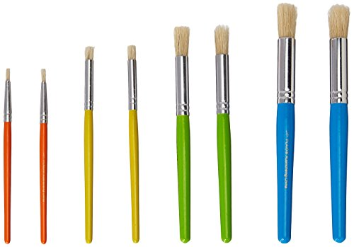 Plaid Enterprises, Inc. Plaid Stencil Brush Set, 34107 (8-Piece), 028995341076 by Plaid Enterprises, Inc. (Image #1)