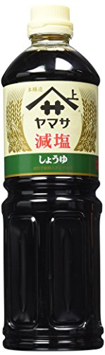 Yamasa Low Sodium Soy Sauce, Reduced Salt Japanese Shoyu | 34 Fluid Ounce | Preservative Free