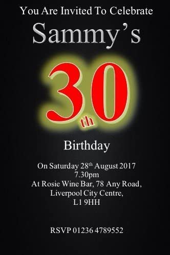 Can be Made for Any Age ref B101 18th 50th 30 Personalised Birthday Party Invites 40th 21st 30th 60th 70th 80th 90th, Invitations Surprise can be Added 16th