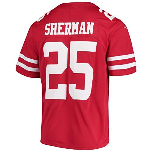 - Intuit Fast Mens Richard_Sherman_25_Scarlet Fans Replica Jersey Sportswear Custom Football Game Limited Elite Legend Jerseys