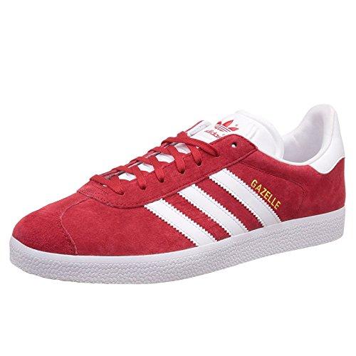 Adidas Originals Men's Gazelle Lace-up Sneaker,Powred/White/Goldmt,10 M ()