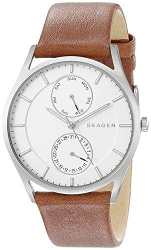 Skagen Men's SKW6176 Holst Dark Brown Leather Watch