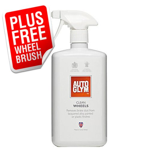 Autoglym Clean Wheels Car Alloy Cleaner 1 LITRE Kit **PLUS FREE WHEEL CLEANING BRUSH**