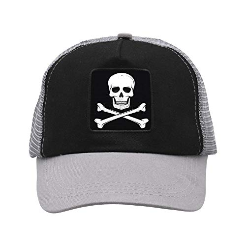 LeEve Pirate Flag Skull Bones Double-Breasted Adjustable Hat Fashion Cap for Adult Unisex