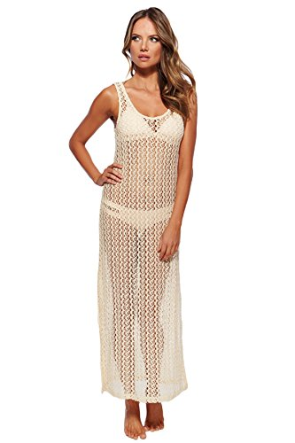 L*Space Women's Threads Maxi Dress Swim Cover Up Natural S