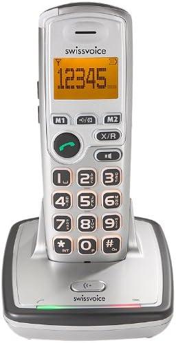 Swissvoice SP400 - Teléfono inalámbrico (DECT, teclas grandes y pantalla iluminadas), color plateado [Importado de Alemania]: Amazon.es: Electrónica