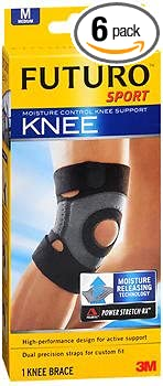 9697d86fa2 Image Unavailable. Image not available for. Color: Futuro Sport Moisture  Control Knee Support ...