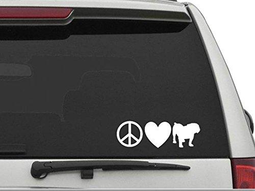 english bulldog vinyl car sticker - 6