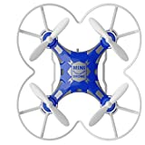 Tiean FQ777-124 Micro Pocket Drone 4CH 6Axis Gyro Switchable Controller (Blue)