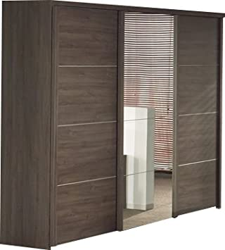 Armoire 280 cm à 3 portes coulissantes pour chambre adulte: Amazon ...