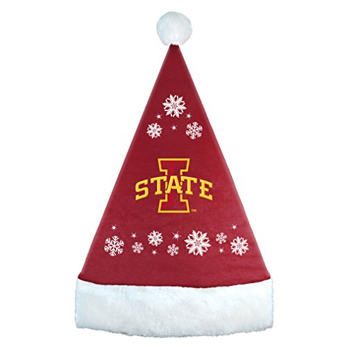 NCAA Tennessee Volunteers Snowflake Santa Hat, Orange, 17.25