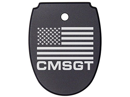NDZ Performance for SIG SAUER P320 P250 Magazine Base Plate Black 9MM .40 .357 - Us Flag Chief Master Sergeant of The Air Force ()