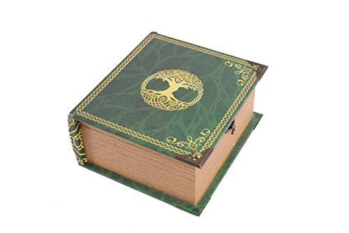 Grimoire Pro Tour, Primeval - Wooden Spellbook Style Large Capacity Trading Card Deck Storage (350 + Cards) for MTG Magic the Gathering, Yugioh, Pokemon | Gift Item for Commander, Edh, Modern