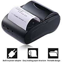 Thermal Receipt Printer, ACEHE 58mm Bluetooth Mini Portable High Speed Direct Thermal Printer, Printing Compatible with ESC / POS Print Commands Set