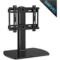 Fenge Universal TV Stand /Base Swivel Tabletop TV Stand with mount for up to 37 inch Flat screen Tvs/xbox One/tv Component /Vizio Tv (TT104001GB)