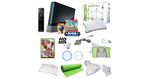Amazon.com: parte superior Calidad Nintendo Wii Negro Super ...