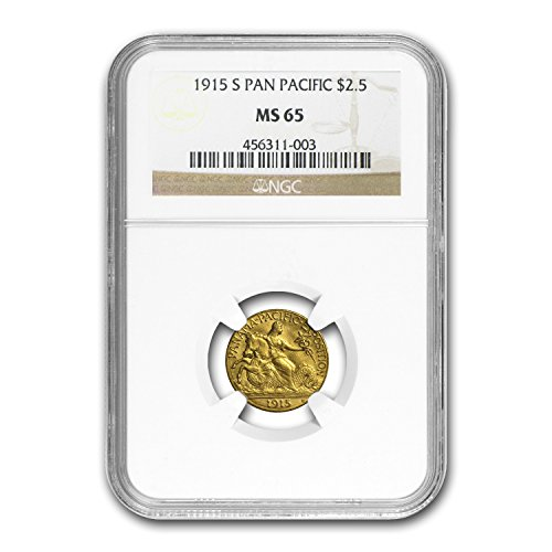 1915 S Gold $2.50 Panama-Pacific MS-65 NGC $2.50 MS-65 NGC