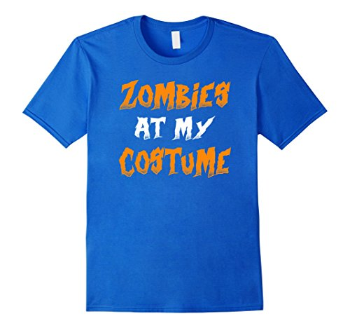 [Mens Zombies Ate My Costume T-shirt Halloween tshirt Small Royal Blue] (Zombie T Shirt Costume)