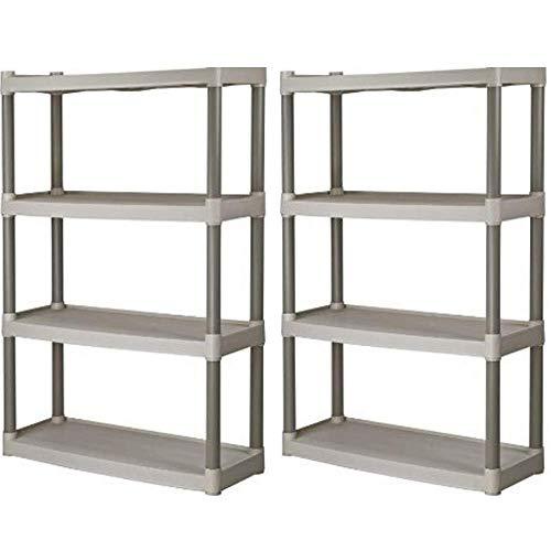 (Plano 4-Shelf Heavy Duty Plastic Storage Unit, Pack of 2 + Freebies)