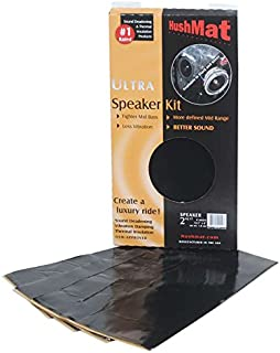 product image for HushMat 10110 Ultra Black Foil Speaker Kit with Damping Pad - 4 Piece