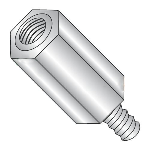 3/8'' OD Hex Standoffs (Male-Female) / 10-32 x 3/4'' / Stainless Steel/Outer Diameter: 3/8'' / Thread Size: 10-32 / Length: 3/4'' (Carton: 100 pcs) by Newport Fasteners