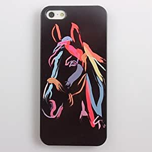 TOPAA Watercolor Horse Design Aluminum Hard Case for iPhone 4/4S