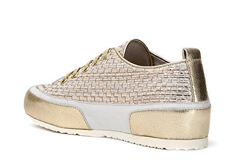 en 204 38 tressé Sneakers Argento Noir Lace Cuir Low Cafè KDE222204380 8PqgxIE