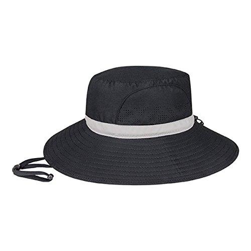 Hats & Caps Shop MICROFIBER UV SUN HAT - By TheTargetBuys | (BLACK)