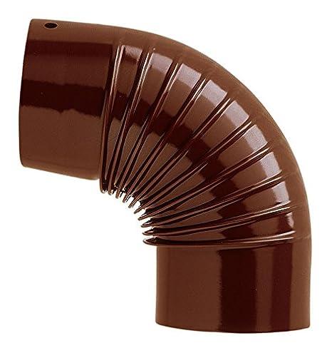 Codo Codos 150 mm 90 grados de chapa Presso PIEGATA esmaltado marrón X Grifería Calderas estufas Calefacción: Amazon.es: Jardín