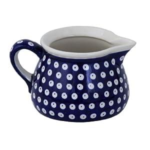 Boleslawiec Pottery Milk jug, 0.6L, Original Bunzlauer Keramik, Decor 42