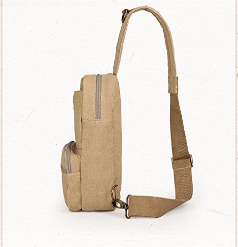 18 zaino Fashion Crossbody Outdoor Piccola e Bag Xxszkaa Travel Solo A1 Bag Grande Backpack 8cm A2 capacità 31 petto Messenger Busto Uomini donne Canvas pacchetto 8qH0xB