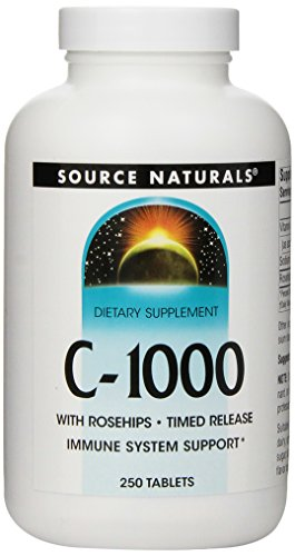 Source Naturals Vitamin C-1000 with Rosehips 1000mg Time Release, Immune System Support, 250 Tablets ()