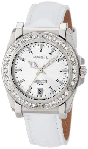 Breil Milano Men's TW0797 Manta Crystal Bezel Date Patent Leather Watch