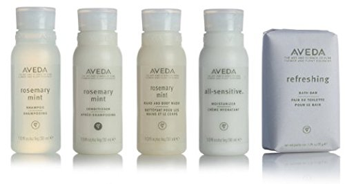 Aveda Travel Set- 2 Shampoo 2 Conditioner 2 Lotion 2 Hand & Body Wash & 2 - Aveda Lotion Mint