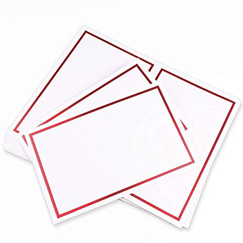 (LCI White Red 2up Printable Card - A9 (5 1/2 x 8 1/2) Foil Border, 65lb Cover, 25 Pack)