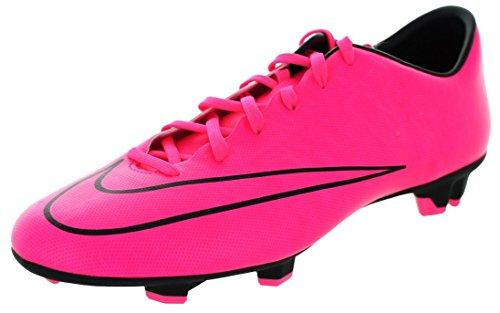 NIKE Men's Mercurial Victory V FG Hyper Pink/Hyper Pink/Blk/Blk Soccer Cleat 12 Men US
