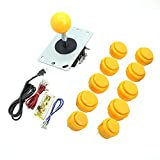 Diy Cabinets WINIT Zero Delay PC Joystick Cabinet DIY Parts Kit for Mame Jamma & Fighting Games 10PCS Blue buttons+1pcs Zero Delay + 1PCS Blue Ball 8 Way Joystick USB Encoder Support All Windows Systems