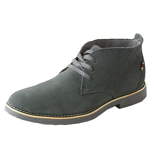 Chukka Casual Mens (alpine swiss Beck Mens Genuine Suede Chukka Boots Gray 10 M US)