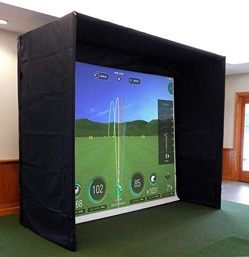 AllSportSystems MiniBay Indoor Home Golf Simulator Hitting Screen Enclosure (High Definiton)