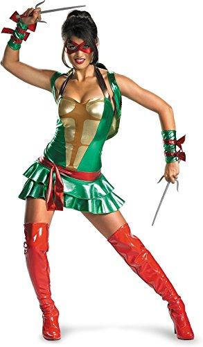 [Disguise Sassy Deluxe Raphael, Multi, Large (12-14) Costume] (Ninja Turtle Female Costumes)