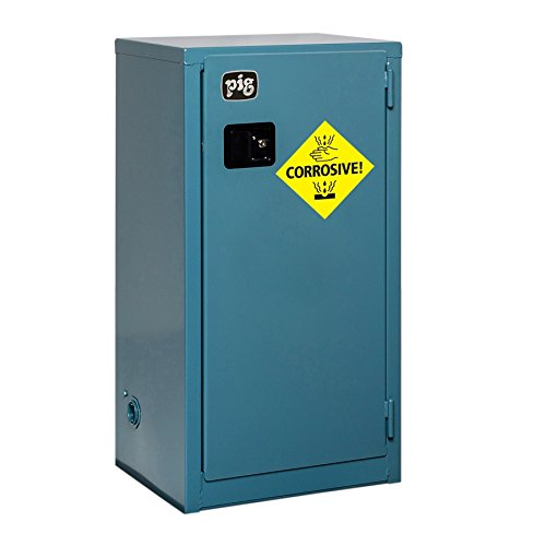 New Pig CAB756 18-Gauge Steel Corrosives Safety Cabinet with Self Close Door, 18 Gallon Capacity, 23